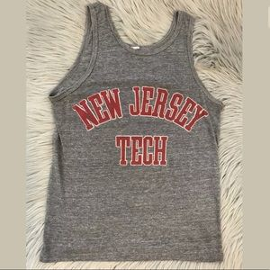 vintage 80s Graphic T New Jersey Tech TANK TOP